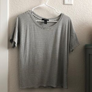Slouchy striped T-shirt